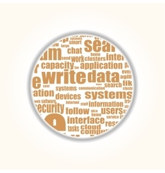 Like - social media concept in word tag cloud vector image