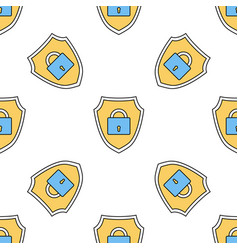 linear seamless pattern with safety internet vector image