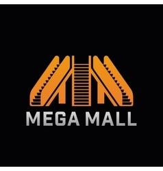 Logo of Mega Mall shop Template logo of offline vector