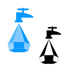logo water saving vector image