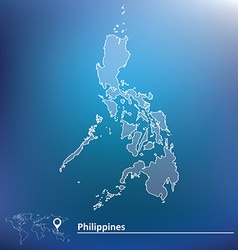 Map of Philippines vector