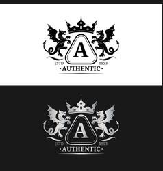 Monogram logo template luxury letter vector