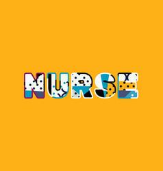 Nurse concept word art vector