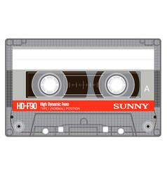 Old school compact cassette vector