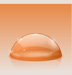 Orange dome glass semi-sphere vector