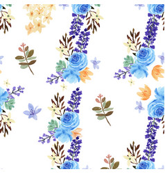 pattern seamless floral lush watercolour style vector image