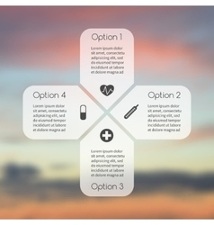 Plus sign infographic Template for diagram vector