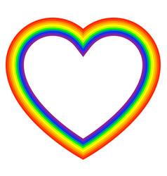 Rainbow color heart contour rgb heart vector