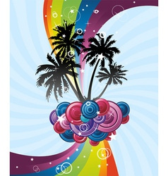 rainbow festive banner vector image