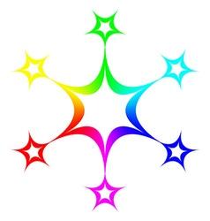 Rainbow star design vector