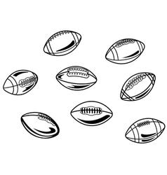 Rugand american football balls vector