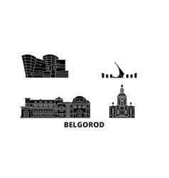 russia belgorod flat travel skyline set russia vector image
