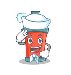 Sailor aerosol spray can character cartoon vector