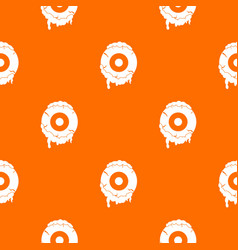 Scary eyeball pattern seamless vector