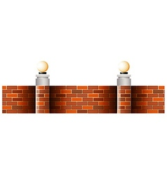 Seamless brick wall with lamps vector