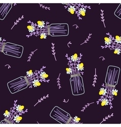 seamless floral pattern with bouquet of daisies vector image