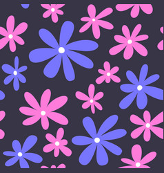 seamless flower pattern textile pattern floral vector image