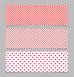 seamless heart pattern banner background design vector image