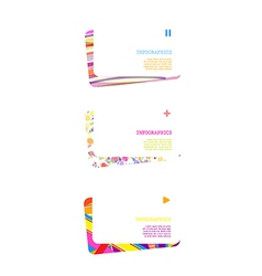 Set of abstract colorful cards vector image