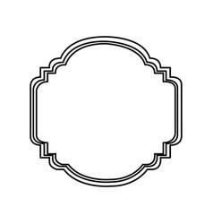 silhouette elegant heraldic decorative frame vector image