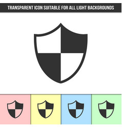 simple outline transparent shield icon on vector image