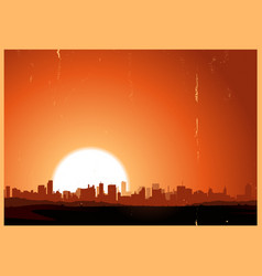 Summer sunrise city vector