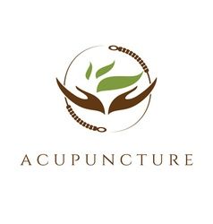 template of acupunture theme vector image