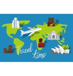 Travel time vacation vector image