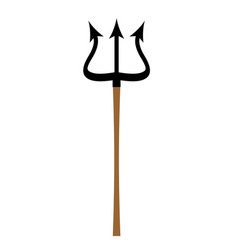 trident isolated weapon of satan and devil spear vector image