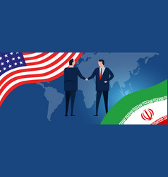us iran diplomatic relationship trade economic vector image