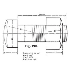 Us standard hexagonal bolt head used as a guide vector
