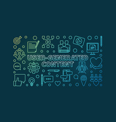 user-generated content outline colorful vector image