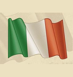 Vintage flag italy vector