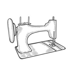 vintage sewing machine vector image