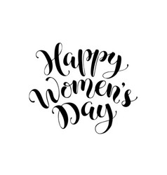 women day phrase vector image