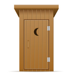 Wooden outdoor toilet vector