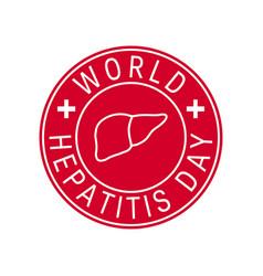 World hepatitis day concept in line style vector