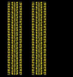 Yellow floral tire tracks vector