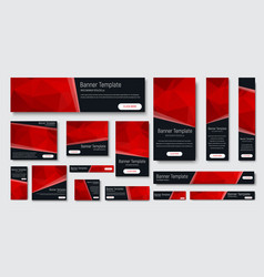design of black banners of standard size vector image vector image