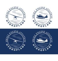 Emblem of hydroplane vector