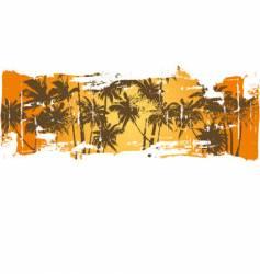 grunge Hawaii scene vector image vector image