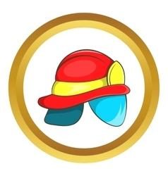 Helmet of firefighter icon vector image