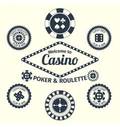 Casino emblems set vector image vector image