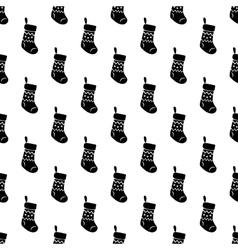 Christmas sock pattern seamless vector image vector image
