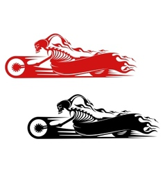 Death monster on motorcycle vector image