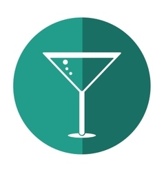 glass cocktail martini with olive shadow vector image