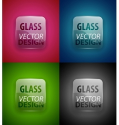 glass plate set vector image