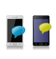 Mobile concept Sending and Receiving messages vector image vector image