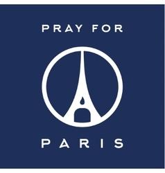 Pray for the Paris France Friday 13th November vector image