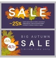 Set horizontal autumn sale banners vector image vector image